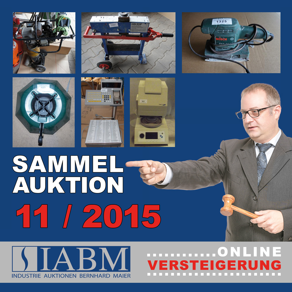 Sammelauktion November 2015