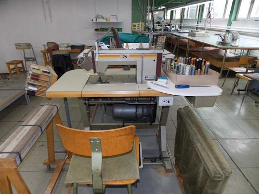 industrie n hmaschine inkl tisch objektdetail industrie auktionen bernhard maier. Black Bedroom Furniture Sets. Home Design Ideas